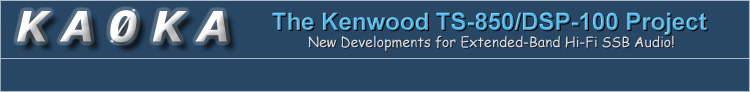 KA0KA - The Kenwood TS-850/DSP-100 Project Home Page